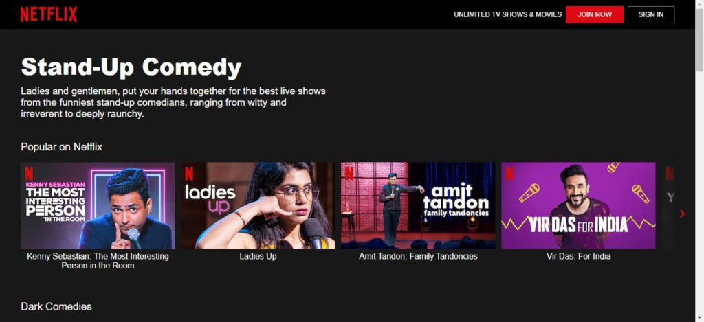 Stand Up Comedy Popular on Netflix